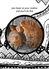 mongoose mom greeting card